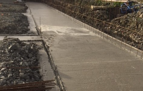 234 cubic metres of concrete pumped at Knockhall Farms Ltd., Kilglass, Rooskey, Co. Roscommon